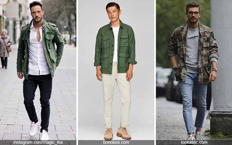 Inspirasi fashion pria terkini - Jaket army