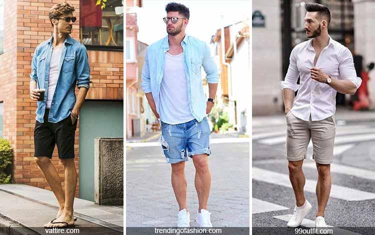 Inspirasi fashion pria terkini - kemeja dan celana pendek