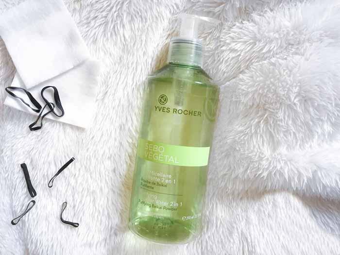 Rekomendasi Micellar Water Untuk Kulit Berjerawat - Yves Rocher Sebo Vegetal Micellar Water 2 in 1