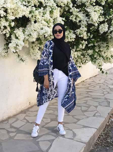 Mix n Match Hijab Terkini Yang Instagramable - Mix n match hijab dengan outer kimono