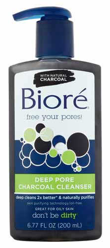 Rekomendasi Sabun Wajah Yang Bagus Untuk Kulit Berminyak - Bioré Deep Pore Charcoal Cleanser