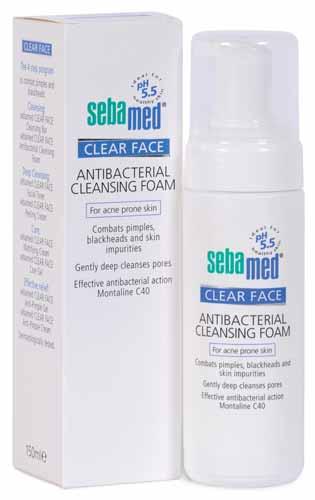Rekomendasi Sabun Wajah Yang Bagus Untuk Kulit Berminyak - Sebamed Clear Face Antibacterial Cleansing Foam