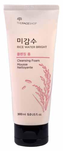 Rekomendasi Sabun Wajah Yang Bagus Untuk Kulit Berminyak - The Face Shop Rice Water Bright Cleansing Foam