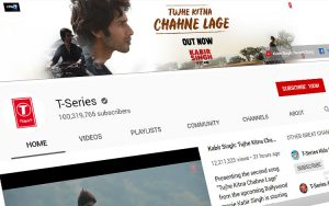 T-Series - YouTube Channel dengan 100 juta lebih subscriber