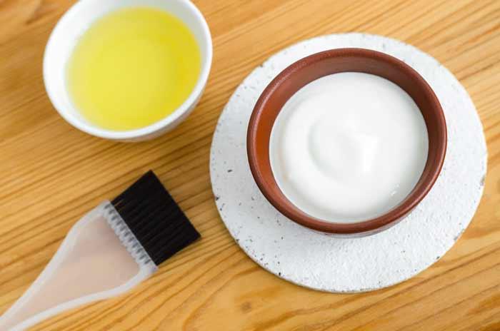 Cara Ampuh Mengurangi Rambut Rontok Secara Alami - yogurt