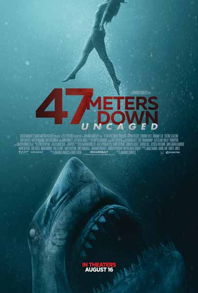 Film Bioskop Tayang Agustus 2019 - 47 Meters Down Uncaged