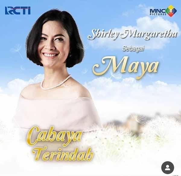 Daftar Pemain Sinetron Cahaya Terindah RCTI Terlengkap - Shirley Margaretha sebagai Maya