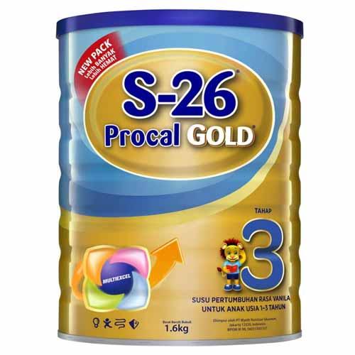 Merk Susu Yang Bagus Untuk Perkembangan Otak Anak - S-26 Procal Gold