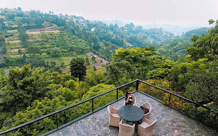 Restoran Dengan Nuansa Alam Di Bandung - Rumah Miring