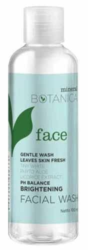 Sabun Wajah Yang Bagus Untuk Kulit Sensitif - Mineral Botanical Brightening Facial Wash