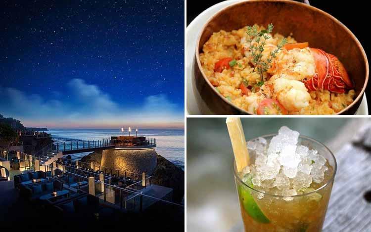 Tempat Makan atau Restoran Dengan Nuansa Alam Di Bali - Rock Bar