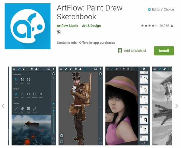 Daftar-Aplikasi-Menggambar-Terbaik-di-Android-ArtFlow