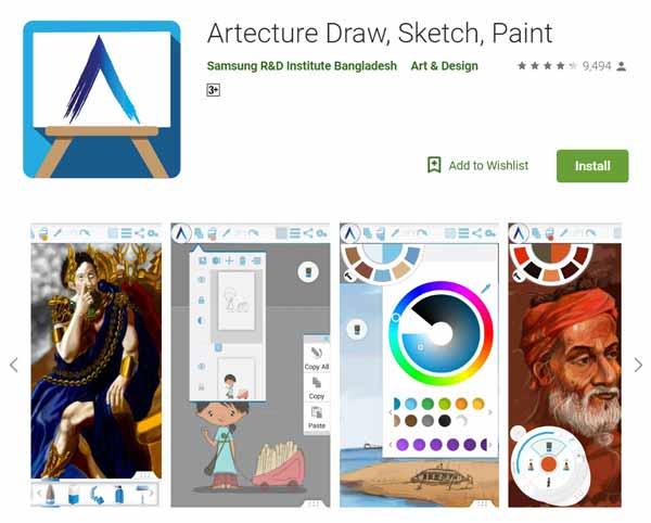 Daftar-Aplikasi-Menggambar-Terbaik-di-Android-Artecture-Draw-Sketch-Paint