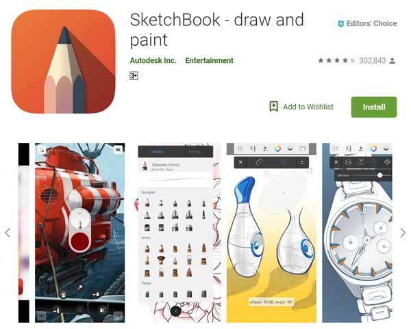 Daftar-Aplikasi-Menggambar-Terbaik-di-Android-Autodesk-Sketchbook