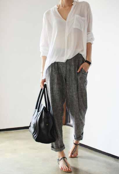 Aneka Jenis Bawahan Wanita Yang Trendi Yang Bisa Kamu Coba - Baggy pants