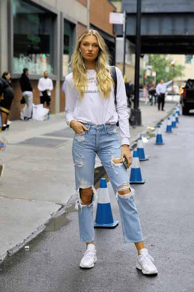 Aneka Jenis Bawahan Wanita Yang Trendi Yang Bisa Kamu Coba - Ripped jeans