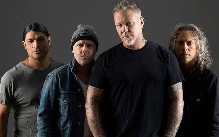 Daftar Band Rock Barat Yang Terbaik Dan Terpopuler Sepanjang Masa - Metallica