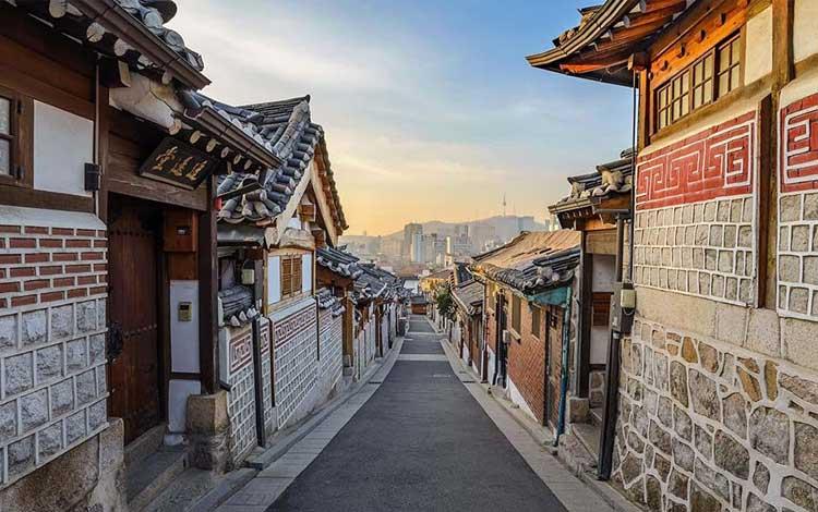 Tempat wisata terpopuler di Korea Selatan - Desa Hanok Bukchon