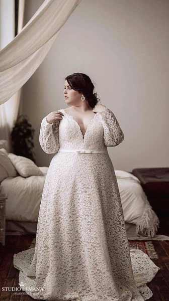 Inspirasi Gaun Pengantin Untuk Yang Bertubuh Gemuk
