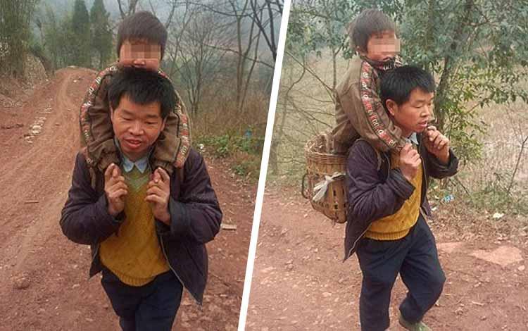 Kisah Cinta Orang Tua Yang Begitu Besar Kepada Anaknya - Ayah Yang Menggendong Anaknya Sejauh 18 km
