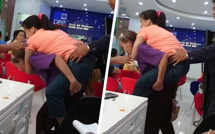 Kisah Cinta Orang Tua Yang Begitu Besar Kepada Anaknya - Ibu Yang Menggendong Anaknya Ke Bank
