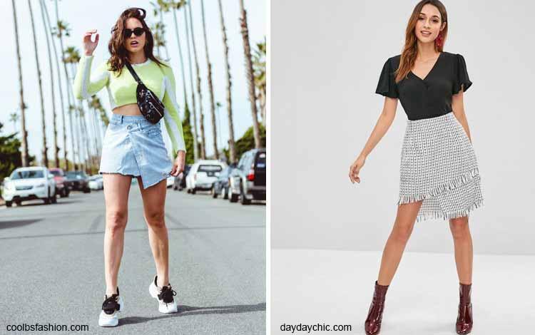 Tampil Fashionable Dengan Rok Mini - Mini asymmetric skirt