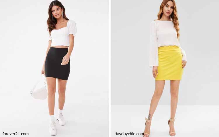 Tampil Fashionable Dengan Rok Mini - Mini tube skirt