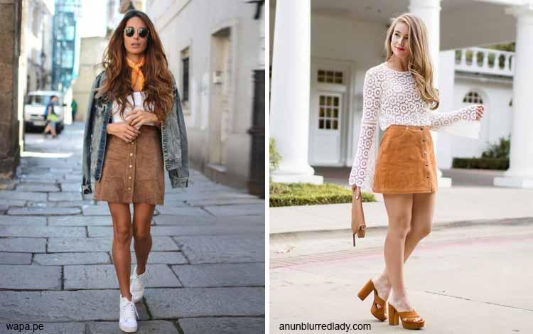 Tampil Fashionable Dengan Rok Mini - Mini camel skirt