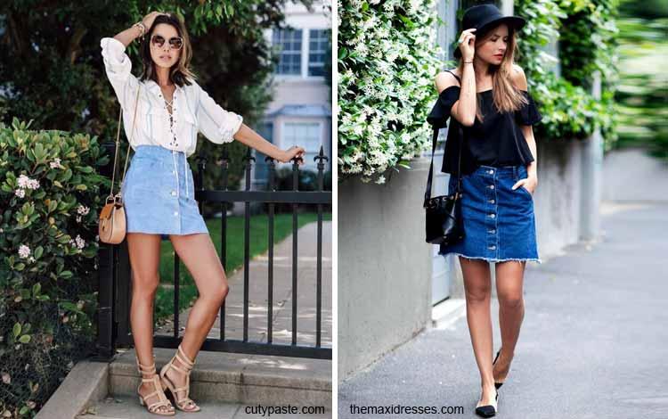 Tampil Fashionable Dengan Rok Mini - Mini front button up skirt