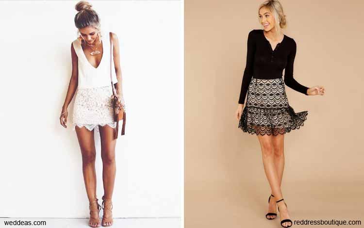 Tampil Fashionable Dengan Rok Mini - Mini lace skirt