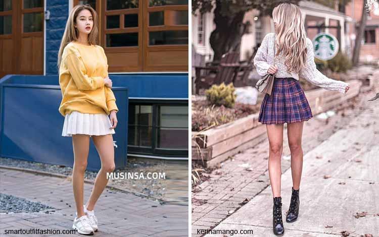 Tampil Fashionable Dengan Rok Mini - Mini pleated skirt