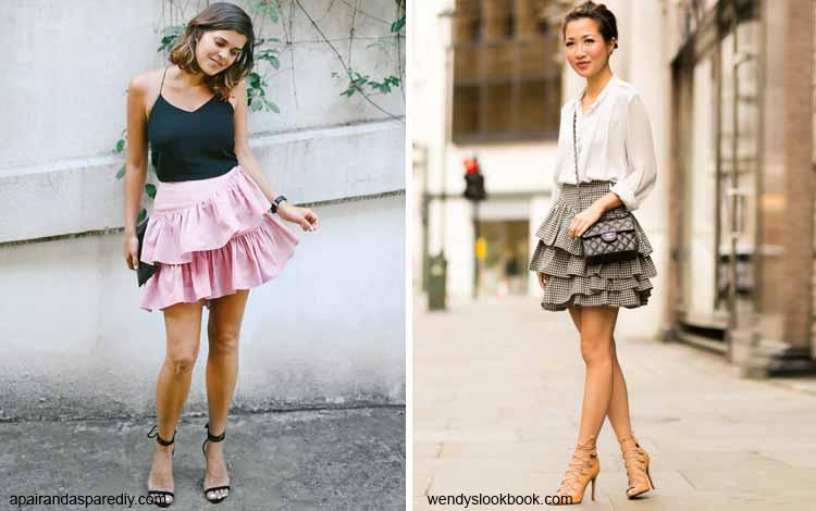 Tampil Fashionable Dengan Rok Mini - Mini ruffle skirt