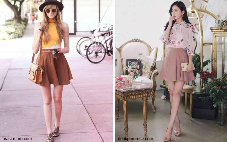 Tampil Fashionable Dengan Rok Mini - Mini skater-flare skirt