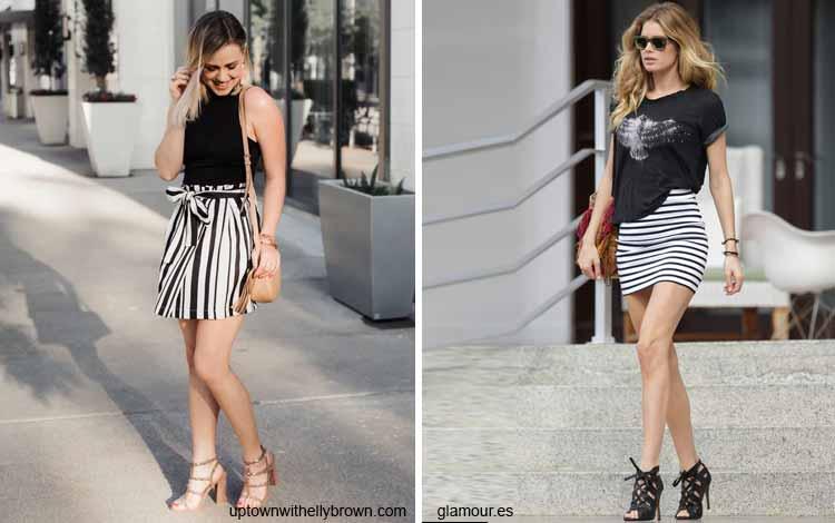 Tampil Fashionable Dengan Rok Mini - Mini striped skirt