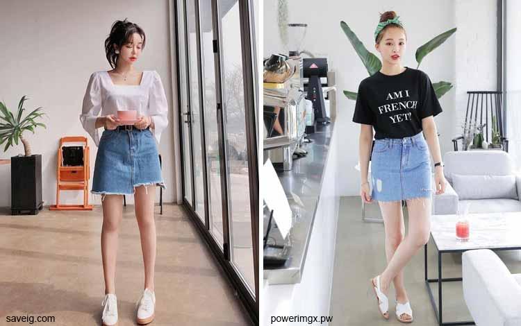 Tampil Fashionable Dengan Rok Mini - Mini denim skirt