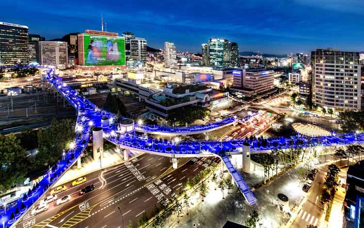 Wisata Di Korea Selatan Terpopuler - Seoullo 7017 Sky Garden