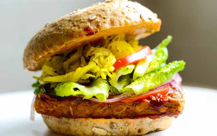 Aneka Makanan Lezat Dengan Bahan Dasar Tahu Dan Tempe - Burger Tempe