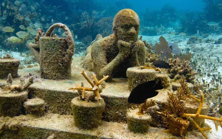 Museum-museum Terunik di Dunia - Cancun Underwater Museum, Meksiko