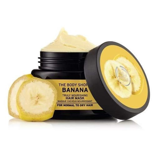 Rekomendasi Merk Masker Rambut Yang Bagus - The Body Shop Banana Truly Nourishing Hair Mask