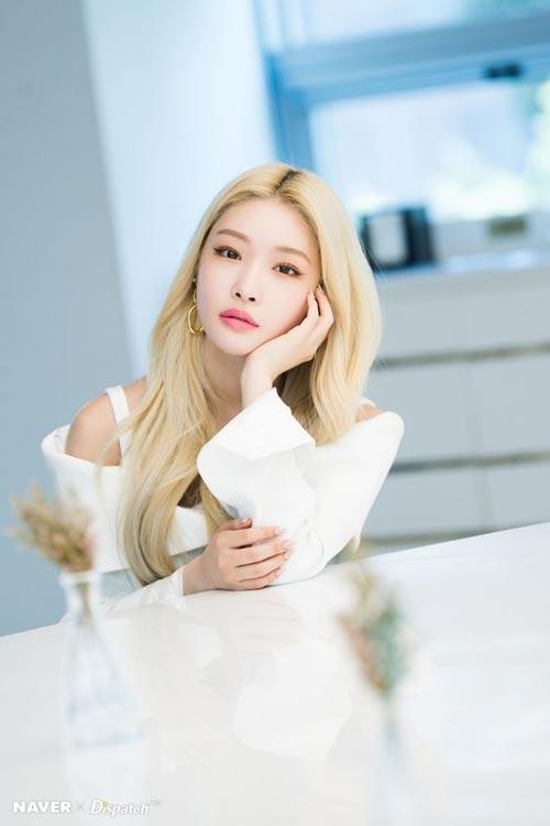 Model dan Warna Rambut Artis Korea Yang Bisa Ditiru - Chungha