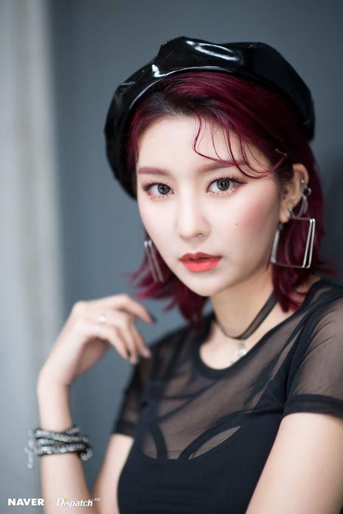 Model dan Warna Rambut Artis Korea Yang Bisa Ditiru - Hyebin Momoland