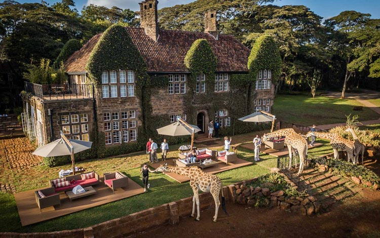 Daftar Hotel Terunik Di Dunia - Giraffe Manor