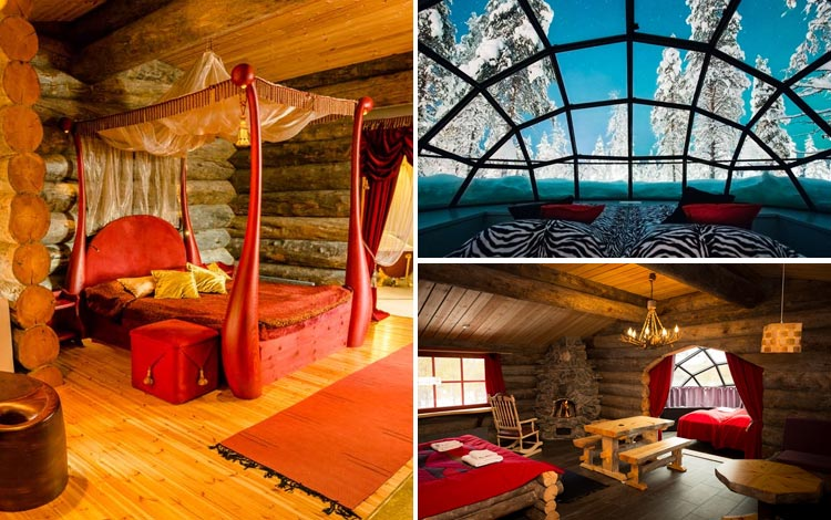 Daftar Hotel Terunik Di Dunia - Kakslauttanen Arctic Resort Room