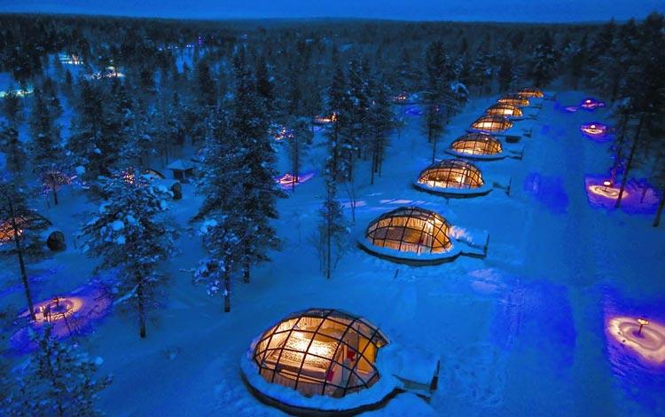 Daftar Hotel Terunik Di Dunia - Kakslauttanen Arctic Resort