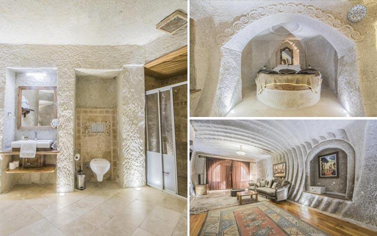 Daftar Hotel Terunik Di Dunia - Ottoman Cave Suites Room