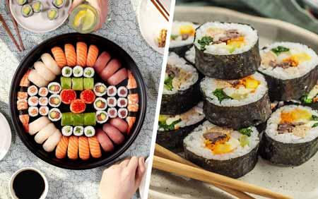 perbedaan kimbap dan sushi