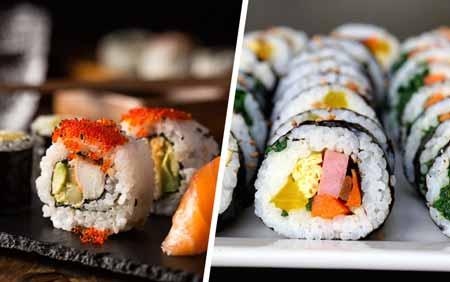 perbedaan sushi dan kimbab