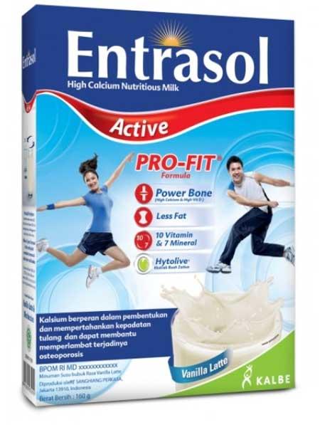 Merk Susu Peninggi Badan Terbaik - Entrasol Active