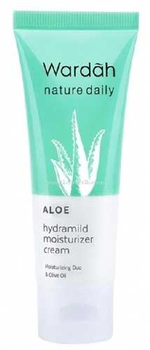 Pelembab Wajah Yang Bagus Untuk Kulit Sensitif Dan Berjerawat - Wardah Aloe Hydramild Moisturizer Cream