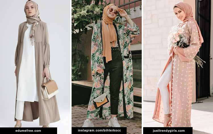 Trend fashion hijab 2020 - Outerwear super panjang